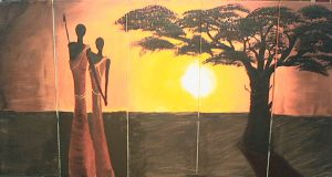 abstract African art