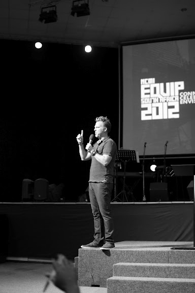 Tyrone Daniel raving about Jesus at EQUIP SA 2012