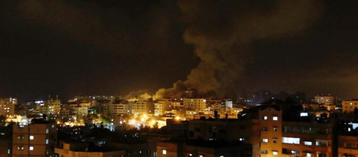 Smoke rises after an Israeli missile strike hit Gaza City, Thursday, July 3, 2014. Photo by AP.